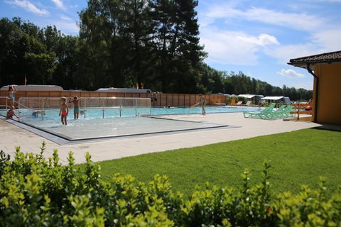 Freibad Park Camping Iller Sonne